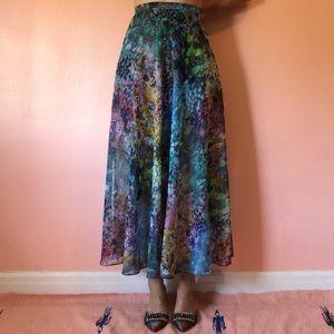 TopShop Watercolor Midi Skirt